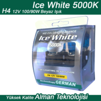 Ice White H4 12V 100/90W Beyaz 2li Ampül Seti