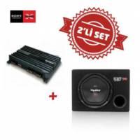 Sony XM-N1004 4 kanal Amfi , XS-NW1200E Kabinli Subwoofer Set