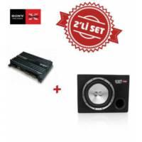 Sony XM-N1004 4 kanal Amfi , XS-GTR121L Kabinli Subwoofer Set