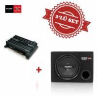 Sony XM-N502 2 yollu Amfi ile XS-NW1200E Kabinli Subwoofer Set