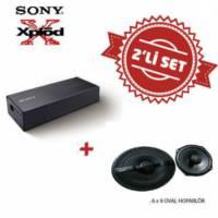 Sony XM-S400 Amfi ile XS-GS6921 6x9 Oval Hoparlör Set