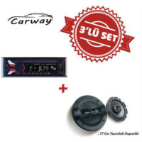 Carway CR-3000 Oto Teyp ile XS-GT1738F 17cm Hoparlör Set