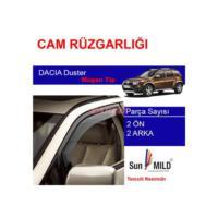 Carub Dacia Duster Mugen Cam Rüzgarlığı 4Lü