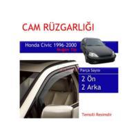 Carub Honda Civic Cam Rüzgarlığı 96-2000 Mugen 4Lü