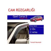 Carub Opel Corsa D Mugen Cam Rüzgarlığı 4Lü