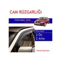 Carub Volkswagen Jetta Mugen Cam Rüzgarlığı 4Lü