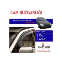Demircioğlu Honda Civic Cam Rüzgarlığı 96-01 Mugen 4Lü