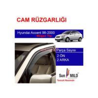 Demircioğlu Hyundai Accent Cam Rüzgarlığı 98-00 Mugen 4Lü