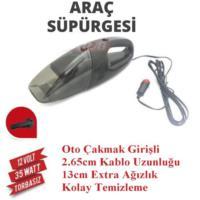 Demircioğlu Oto Araç Süpürgesi Çakmaklı 12V Siyah-Siyah
