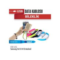 Demircioğlu Şarj Usb Data Bileklik 12V Galxy S6-S Blue