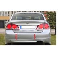 Civic Honda 2006 - 2011 Mugen Arka Tampon Eki - Boyasız