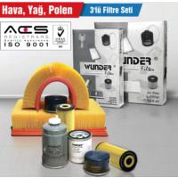 Seat Ibiza V 1.2 (6J) 51Kw/70Ps (05/08 ->) Hava-Yağ-Polen Filtre Seti