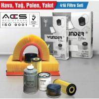 Seat Altea / Altea Xl / Freetrack 2.0 Tdi (5P1, 5P5, 5P8) 103Kw/140Ps (04/04 ->) Hava-Yağ-Polen-Yakıt Filtre Seti