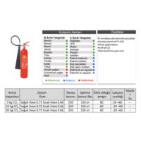 Köse Yangın Söndürücü - 5 kg Genel Maksatlı CO2 Söndürücü