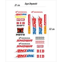 StickerMarket Honda Amsoil Sticker Seti