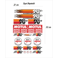 StickerMarket K&N Motul Sticker Seti