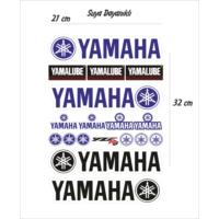 StickerMarket Yamaha Motosiklet Sticker Seti