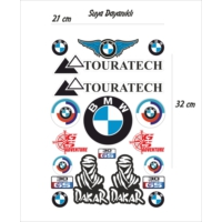 StickerMarket BMW Motosiklet Sticker Seti