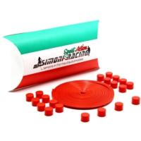 Simoni Racing Lega Protezioni 1 - Kırmızı Alaşım Jant Koruyucular Silikon Smn102937