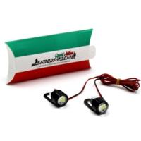 Simoni Racing Lente - Mercek Nokta Dekor Lambası Kırmızı Çakarlı Smn103426