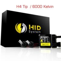 Modacar Oscar H4 Kısa Xenon/Uzun Xenon 6000 K Xenon H.I.D Xenon Kit 01G041