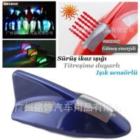 Tvet Anten Süs Balık Mavi İkaz Işıklı Güneş Enerjili Sensörlü