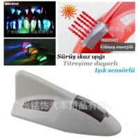 Tvet Anten Süs Balık Beyaz İkaz Işıklı Güneş Enerjili Sensörlü
