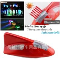 Tvet Anten Süs Balık Kırmızı İkaz Işıklı Güneş Enerjili Sensörlü