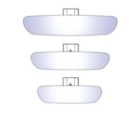 Tvet Ic Dikiz Aynası Dik Kollu Silver 3'lü Set Ova