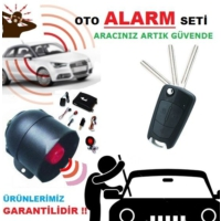 Tvet Oto Alarmı Komple Set Sustalı 12V Kumanda Modeli
