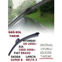 Tvet Hyundai I30 Kia Ceed Skoda Super B Fiat Bravo Lancıa Delta 3 Orj Tip Silecek 450 600 Mm Takım