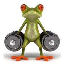 TSC Komik Araba Kurbağa Yapıştırması Halterci