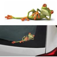 TSC Komik Araba Kurbağa Yapıştırması 2
