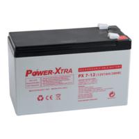 Power-Xtra 12V 7 Ah F2 Pin (Kalın) Bakımsız Kuru Akü