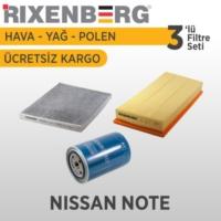 Rixenberg Filters Nissan Note 3'Lü Filtre Seti