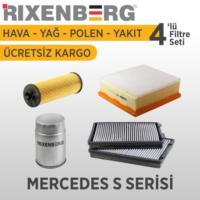 Rixenberg Filters Mercedes S Serisi 4'Lü Filtre Seti
