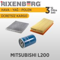 Rixenberg Filters Mitsubishi L200 3'Lü Filtre Seti