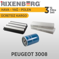 Rixenberg Filters Peugeot 3008 3'Lü Filtre Seti