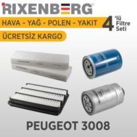 Rixenberg Filters Peugeot 3008 4'Lü Filtre Seti
