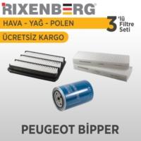 Rixenberg Filters Peugeot Bipper 3'Lü Filtre Seti