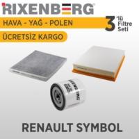Rixenberg Filters Renault Symbol 3'Lü Filtre Seti