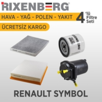 Rixenberg Filters Renault Symbol 4'Lü Filtre Seti