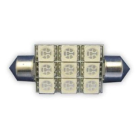 Sofit Ampul 9LED Mavi 12V 42Mm