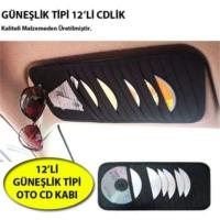 Carub Oto Güneşlik İçin Cd Kabı 12'li Cdlik