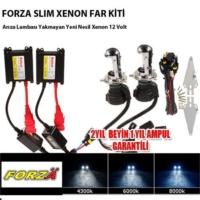 Forza H4 8000K Xenon Far Kiti İnce Uzun Kısa 12 V