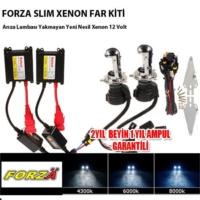 Forza H4 30000K Koyu Mavi Xenon Far Kiti İnce Uzun Kısa 12 V