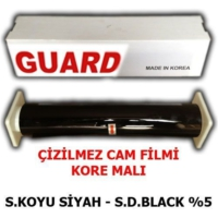 Guard Cam Filmi Çizilmez %05 Süper Koyu Siyah ( Super Dark Black ) 100Cm * 60M