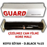 Guard Cam Filmi Çizilmez %15 Koyu Siyah ( Dark Black ) 75Cm * 60M