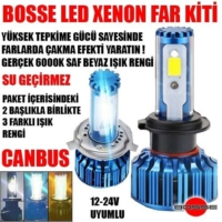 Bosse Led Xenon Far Kiti H10 Canbus Set 12V 24V