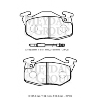 Ypc Citroen Zx- 91/97 Ön Fren Balatası (Disk) (105X54,1X18) (Bramax)